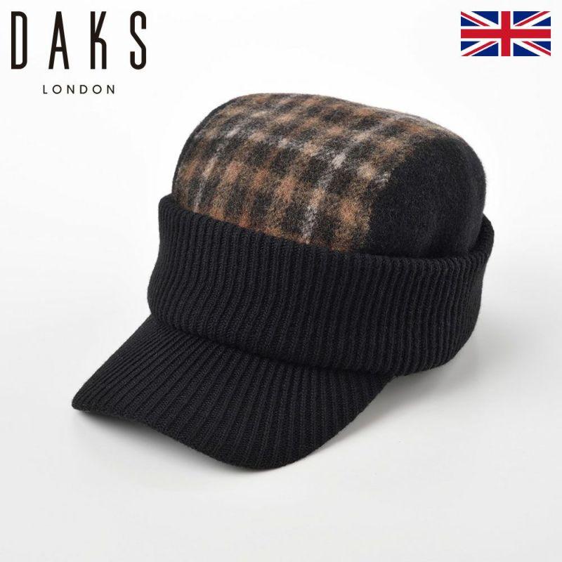 帽子 ニット DAKS(ダックス) Cap Basque Wool(キャップ バスク ウール) D5525 ブラック