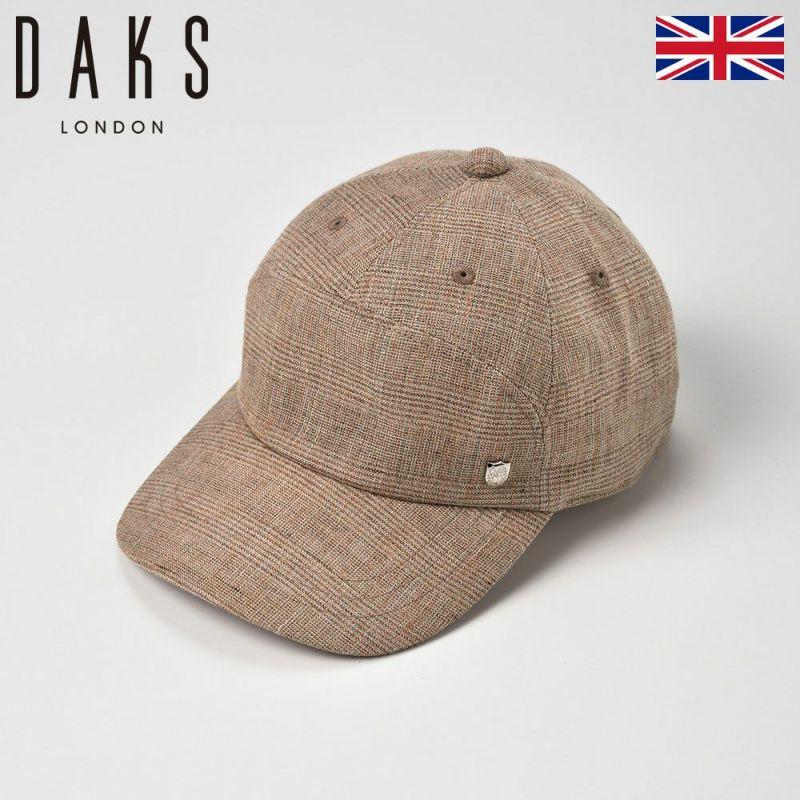 帽子 キャップ DAKS(ダックス) Linen Glen Check Cap(リネン グレン チェック キャップ)D1671 キャメル