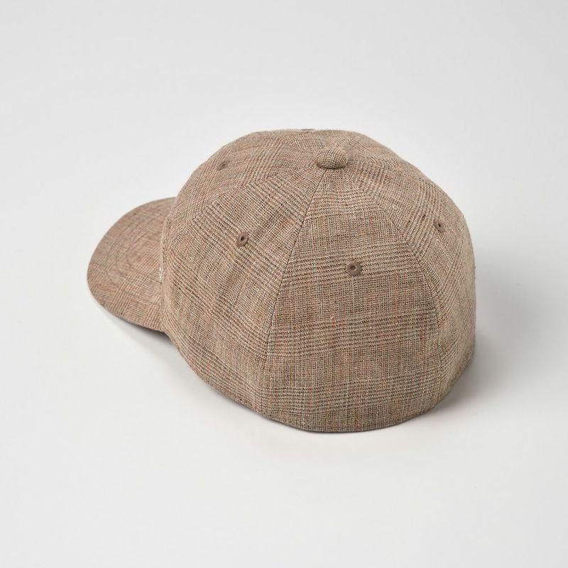 Linen Glen Check Cap(リネン グレン チェック キャップ)D1671 キャメル