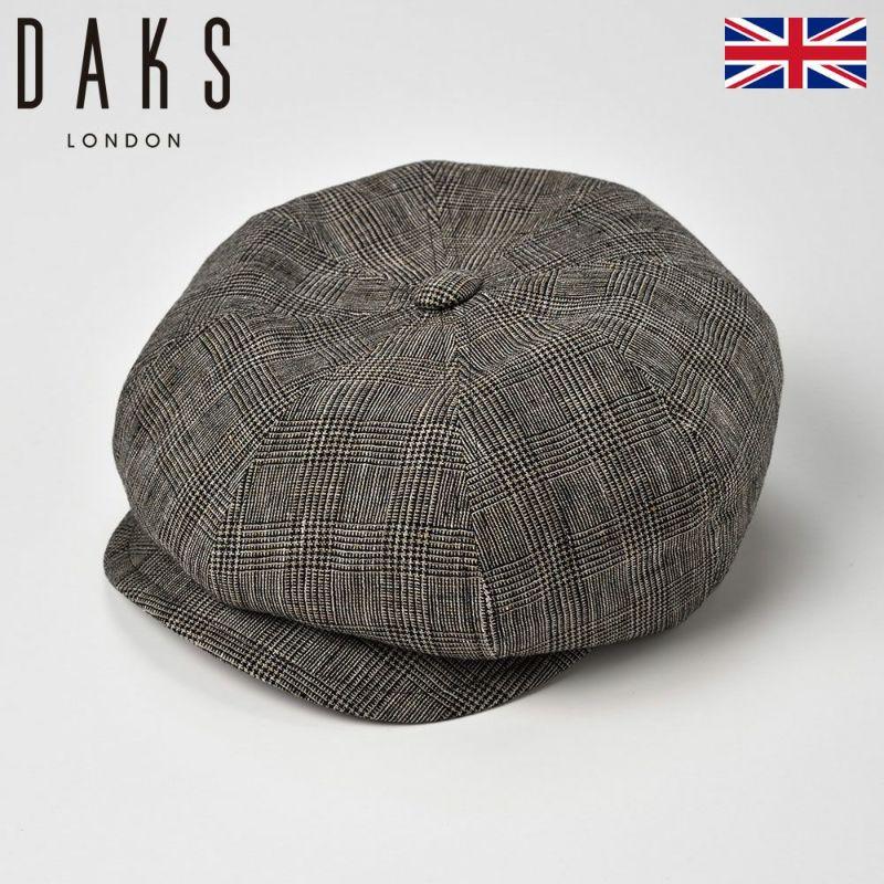 帽子 ハンチング DAKS(ダックス) Linen Glen Check Cas(リネン グレン チェック キャス)D1672 ブラック