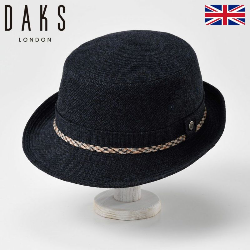 帽子 ハット DAKS(ダックス) Alpen JS(アルペン ジャガードスエード)D3671 ネイビー