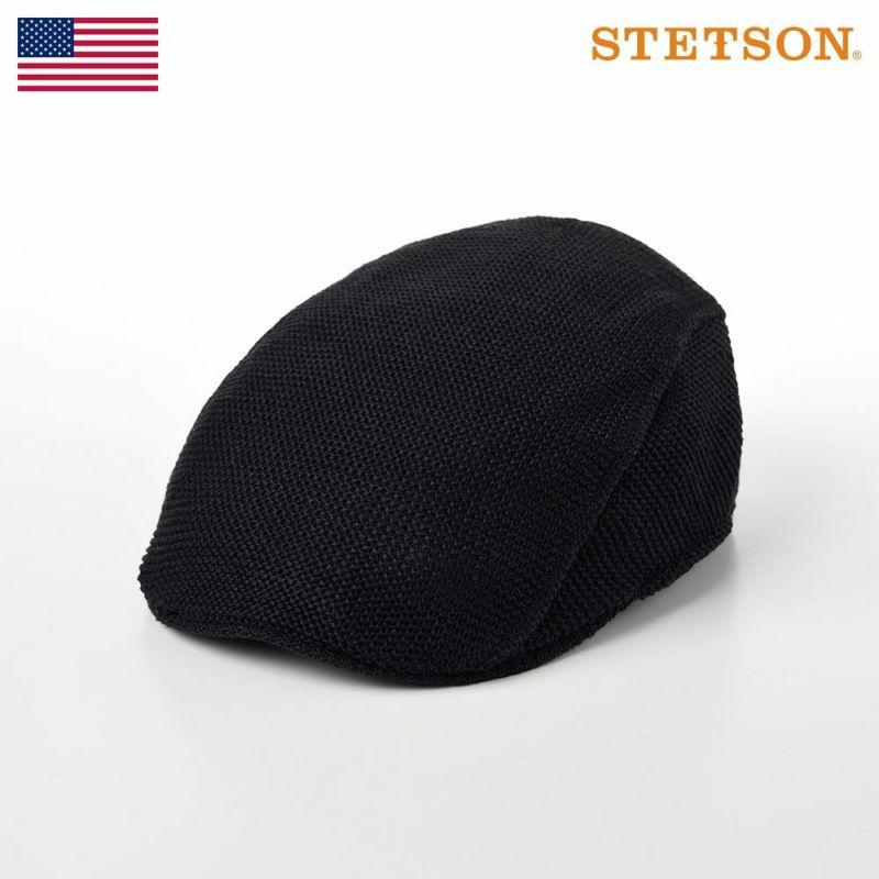 帽子 ニット STETSON(ステットソン) LINEN KNIT HUNTING(リネン ニット ハンチング)SE101 ブラック