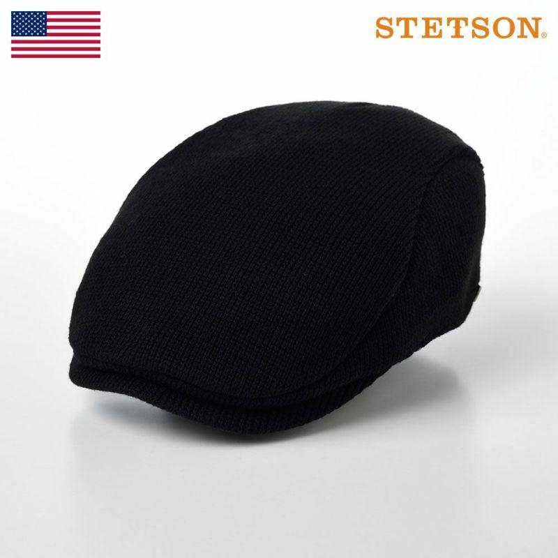 帽子 ニット STETSON(ステットソン) WOOL MIX KNIT HUNTING(ウールミックス ニットハンチング )SE163 ブラック