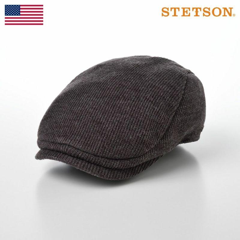 帽子 ニット STETSON(ステットソン) WOOL MIX KNIT HUNTING(ウールミックス ニットハンチング )SE163 グレー