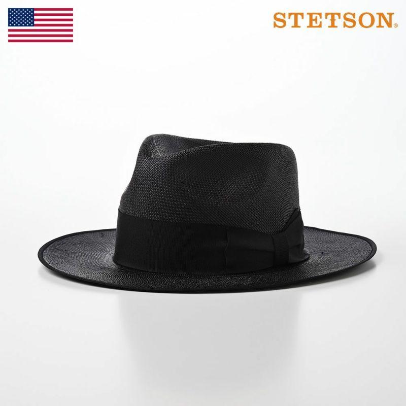 帽子 パナマハット STETSON(ステットソン) Flat WHIPPET PANAMA G3(フラット ウィペット パナマ)SE456 ブラック