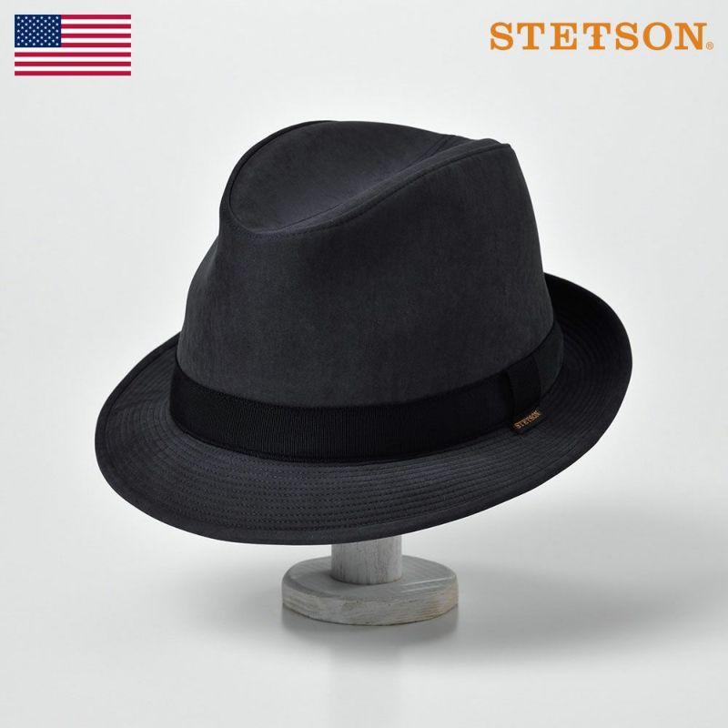 帽子 ソフトハット STETSON(ステットソン) CRUSHABLE WR HAT(クラッシャブル撥水ハット)SE489 ブラック