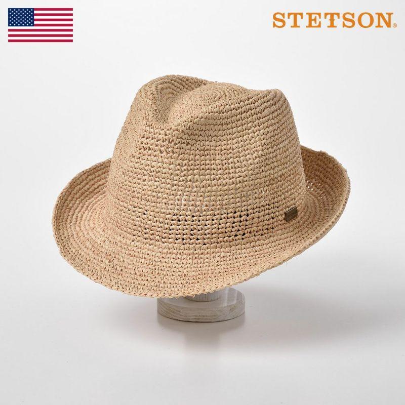 帽子 パナマハット STETSON(ステットソン) MANISH RAFFIA(マニッシュ ラフィア)SE507 ベージュ