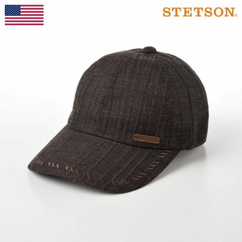 帽子 キャップ STETSON(ステットソン) KARAMI CAP(カラミ キャップ)SE533 ブラウン