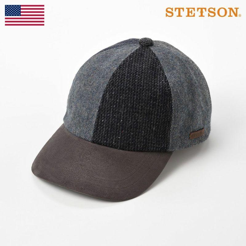 帽子 キャップ STETSON(ステットソン) PATCHWORK 6PANEL CAP(パッチワーク 6パネルキャップ)SE547 ネイビー