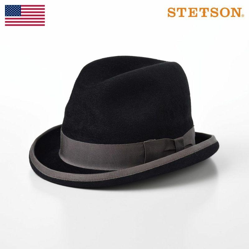 帽子 フェルトハット STETSON(ステットソン) VELVET HONGBURG(ベルベット ホンブルグ)SH402 ブラック