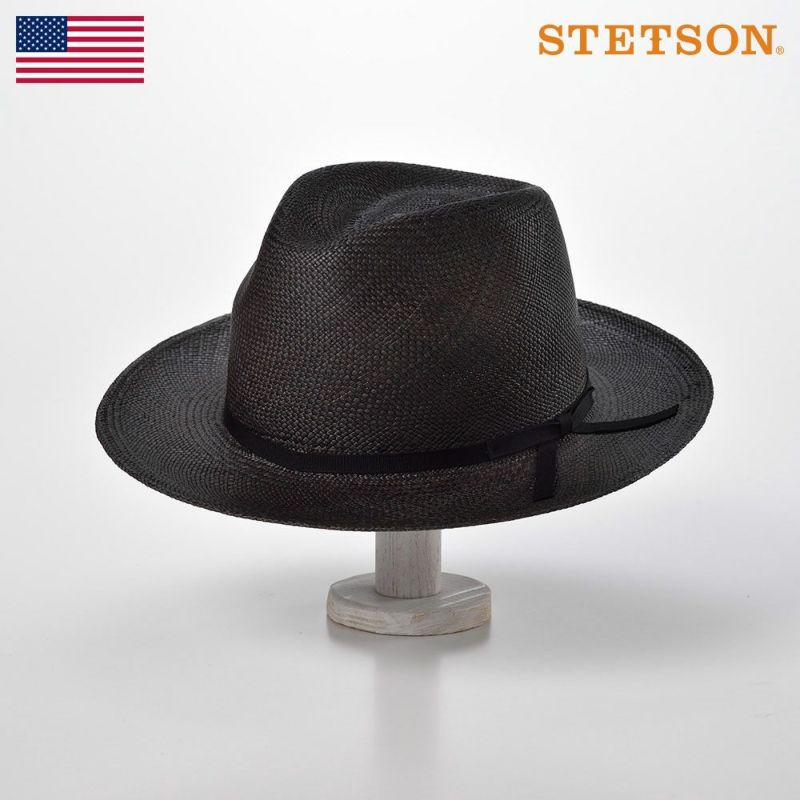 帽子 パナマハット STETSON(ステットソン) RAMBLIN MAN(ランブリン マン)SH556 ブラック