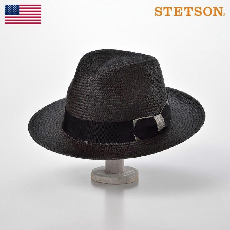 帽子 パナマハット STETSON(ステットソン) DUO PANAMA G3(デュオパナマ G3)SH557 ブラック