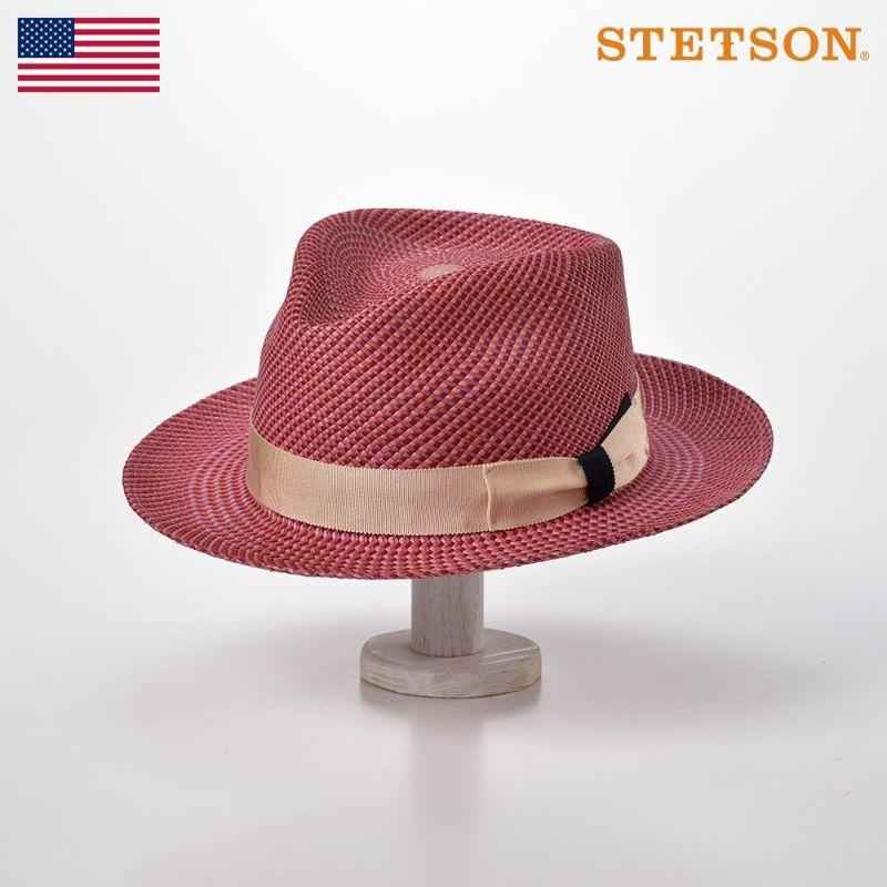 帽子 パナマハット STETSON(ステットソン) FOUR MIX PANAMA G3(フォー ミックス パナマ G3)SH581 ローズ