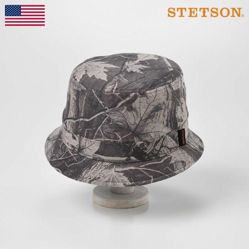 帽子 ソフトハット STETSON(ステットソン) LEAF SAFARI(リーフサファリ)SE498 グレー