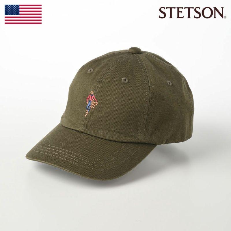 帽子 キャップ STETSON(ステットソン) MASCOT CAP(マスコットキャップ)SE409 カーキ