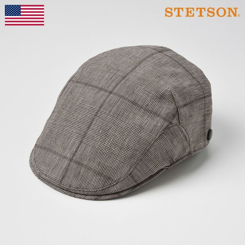 帽子 ハンチング STETSON(ステットソン) LINEN HUNTING(リネンハンチング)SE449 ブラウン