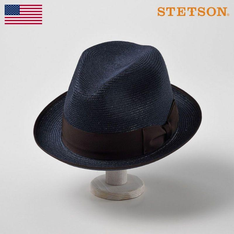 帽子 パナマハット STETSON(ステットソン) VICEROY(バイスロイ)ST145 ネイビー