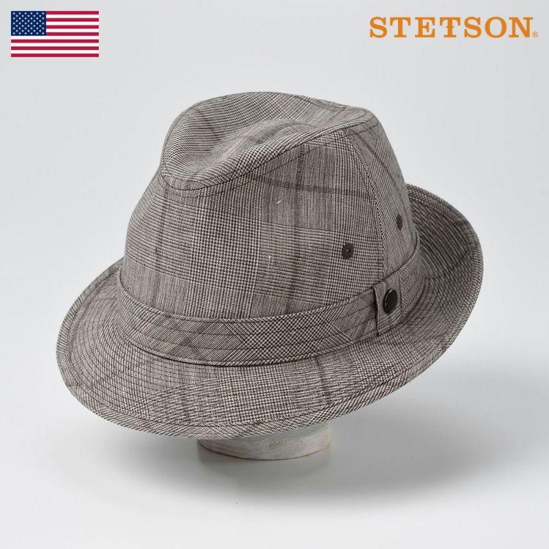 帽子 ソフトハット STETSON(ステットソン) LINEN HAT(リネンハット)SE448 ブラウン