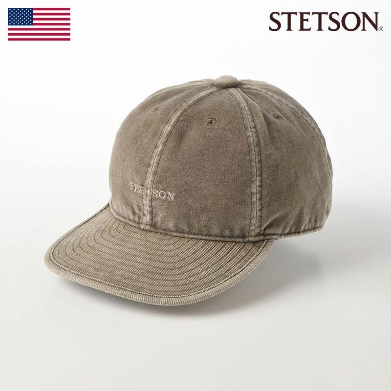 帽子 キャップ STETSON(ステットソン) CORDUROY CAP(コーデュロイキャップ)SE127 ライトブラウン