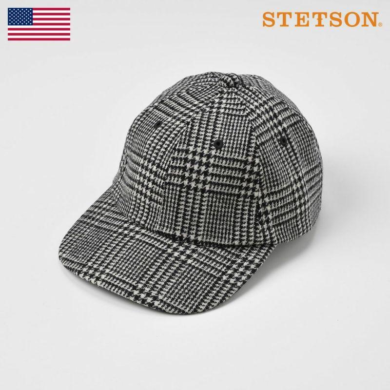 帽子 キャップ STETSON(ステットソン) WASHABLE TWEED CAP(ウォッシャブルツイードキャップ)SE473 ブラック