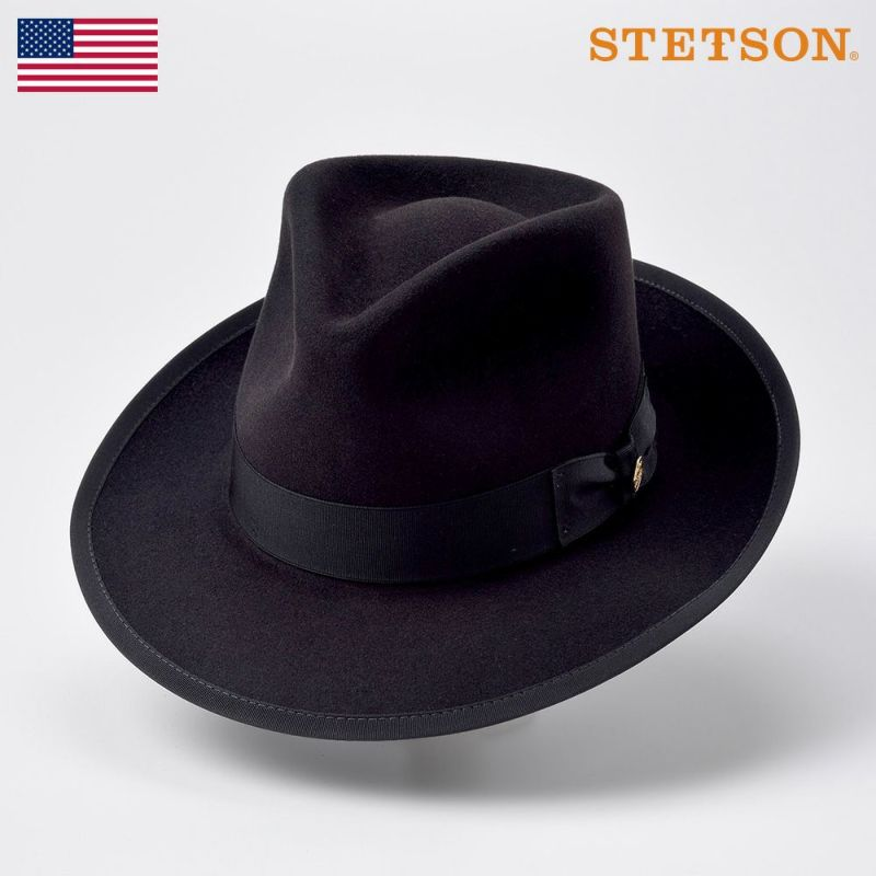 帽子 フェルトハット STETSON(ステットソン) VINTAGE WHIPPET MIX(ビンテージウィペット ミックス)ST165 ブラック