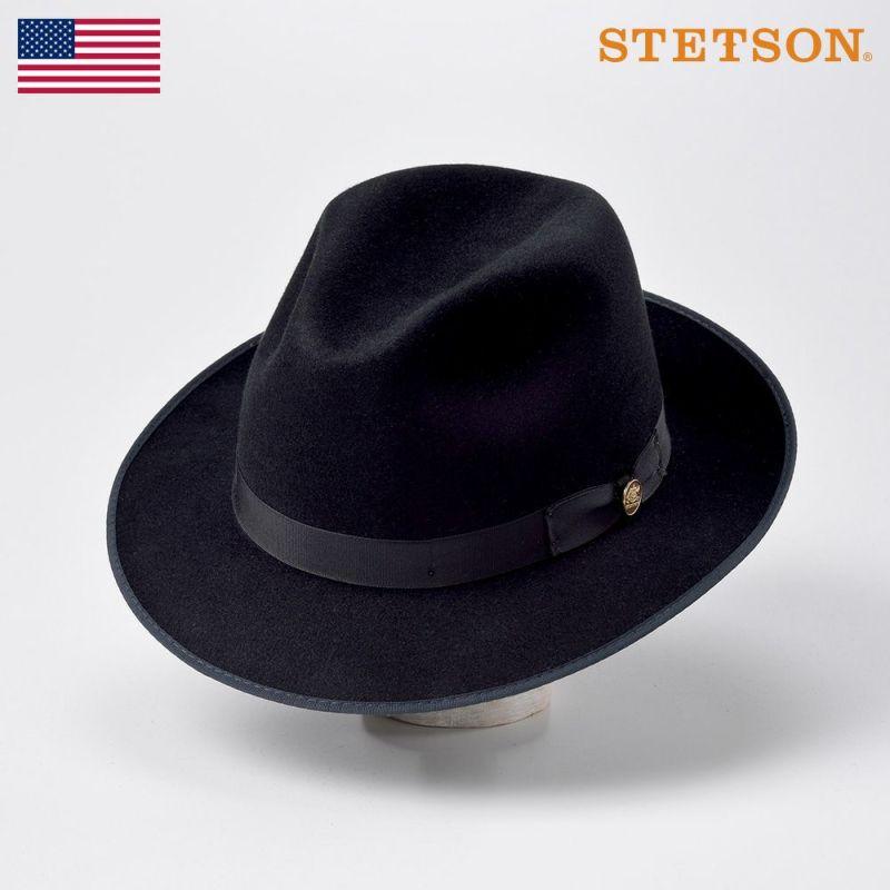 帽子 フェルトハット STETSON(ステットソン) RUNABOUT(ラナバウト)ST166 ブラック