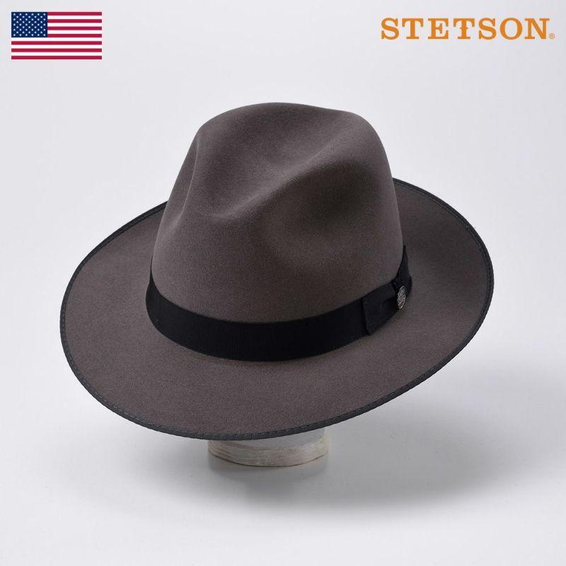 帽子 フェルトハット STETSON(ステットソン) RUNABOUT(ラナバウト)ST166 チャコールグレー