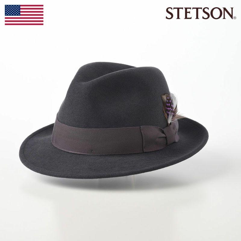 帽子 フェルトハット STETSON(ステットソン) CRUSHABLE WOOL HAT(クラッシャブルウールハット)SE217 グレー