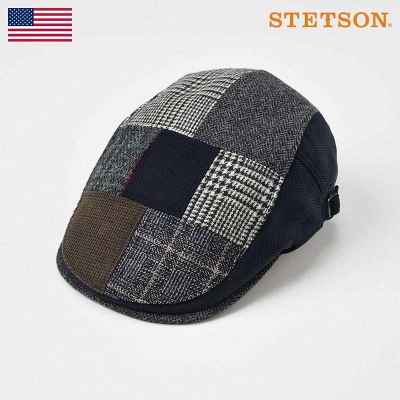 帽子 ハンチング STETSON(ステットソン) PATCHWORK HUNTING(パッチワークハンチング)SE481 ネイビー
