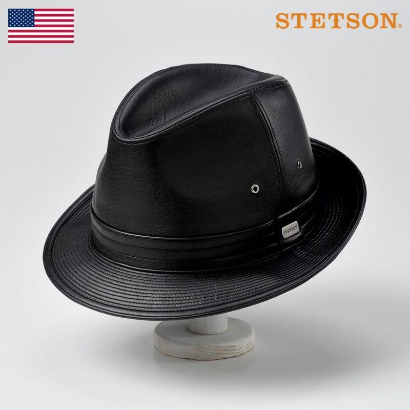 帽子 レザーハット STETSON(ステットソン) LEATHER HAT(レザーハット)SE150 ブラック