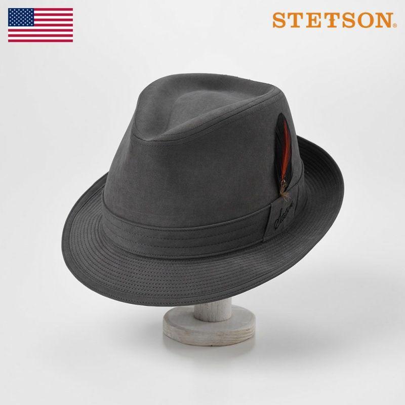 帽子 ソフトハット STETSON(ステットソン) MICROFIBER WR HAT(マイクロファイバー撥水ハット)SE497 チャコールグレー