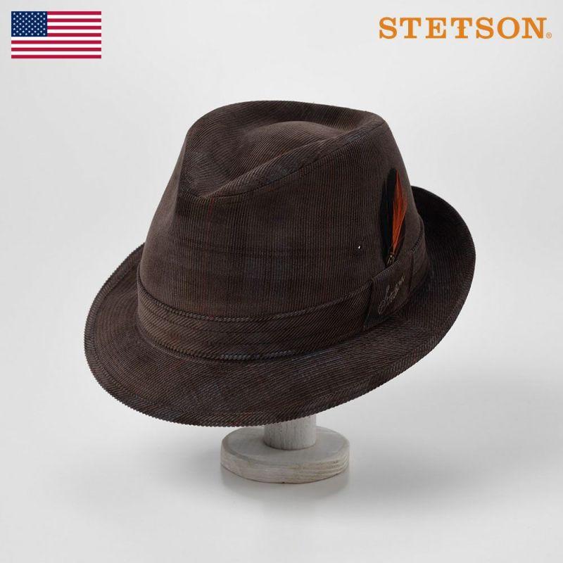 帽子 ソフトハット STETSON(ステットソン) CHECK CORDUROY HAT(チェックコーデュロイハット)SE490 ブラウン