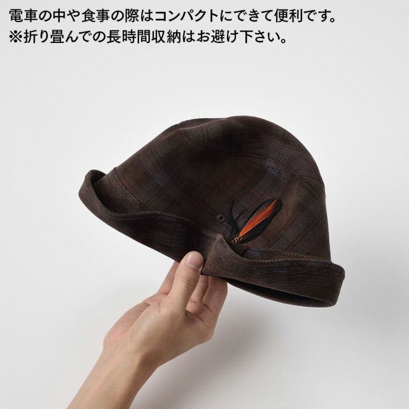 CHECK CORDUROY HAT(チェックコーデュロイハット)SE490 ネイビー