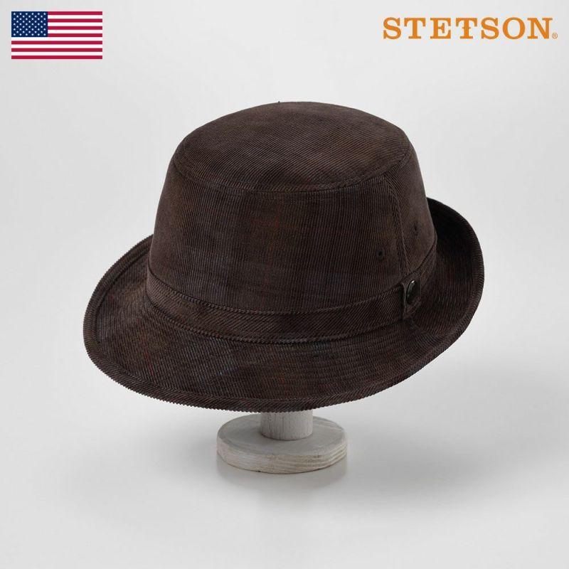 帽子 ソフトハット STETSON(ステットソン) CORDUROY ALPEN(コーデュロイ アルペン)SE493 ブラウン