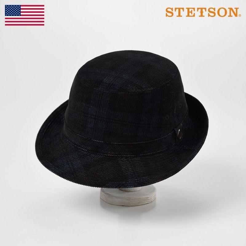 帽子 ソフトハット STETSON(ステットソン) CORDUROY ALPEN(コーデュロイ アルペン)SE493 ネイビー