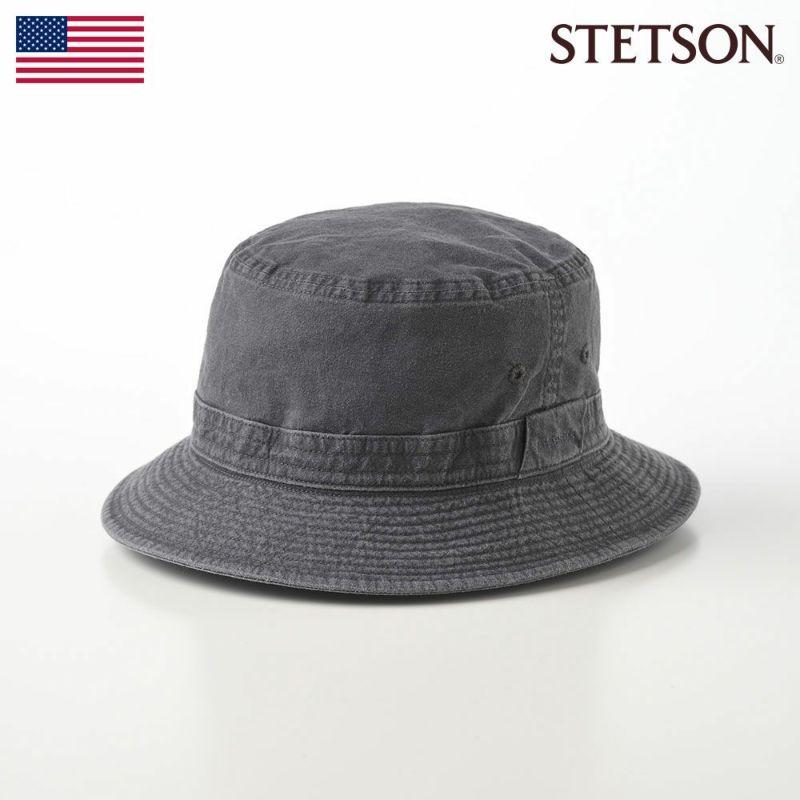 帽子 ソフトハット STETSON(ステットソン) SAFARI COTTON(サファリ コットン)SE076 ブラック