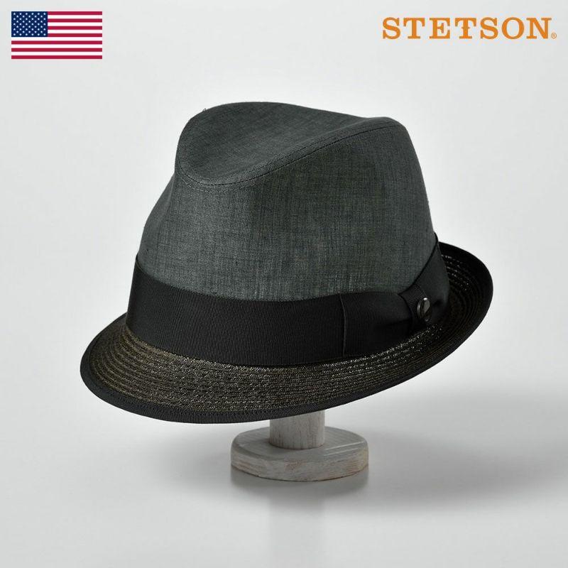 帽子 ソフトハット STETSON(ステットソン) BRAID COMBI HAT(ブレードコンビ ハット)SE442 オリーブ
