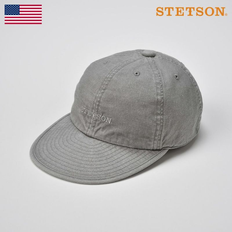 帽子 キャップ STETSON(ステットソン) CAP OVERDYE COTTON(キャップ オーバーダイ コットン)SE077 グレー
