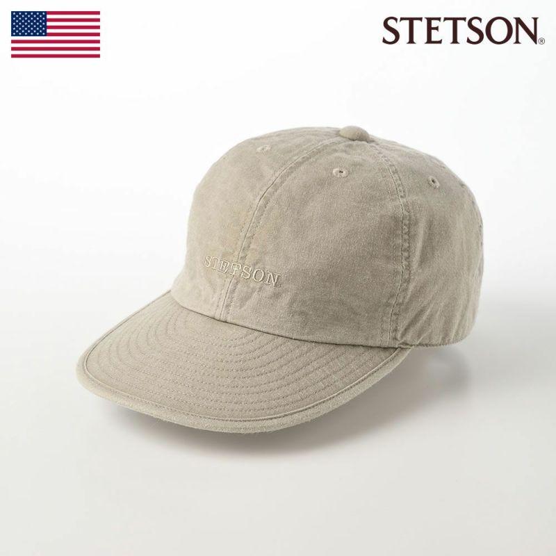 帽子 キャップ STETSON(ステットソン) CAP OVERDYE COTTON(キャップ オーバーダイ コットン)SE077 オリーブ