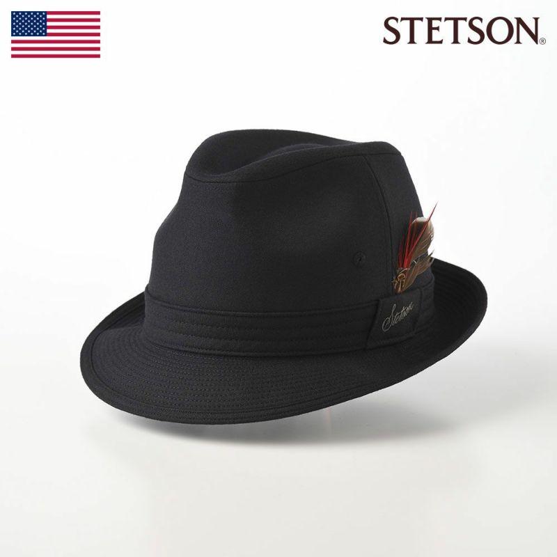 帽子 ソフトハット STETSON(ステットソン) NEW LESCAUT FLANO(ニューレスコー フラノ)SE123 ブラック