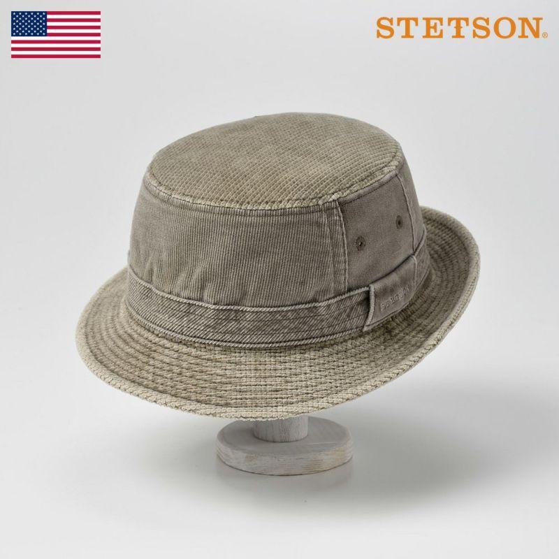 帽子 ソフトハット STETSON(ステットソン) SAFARI CORDUROY(サファリコーデュロイ)SE126 ライトブラウン