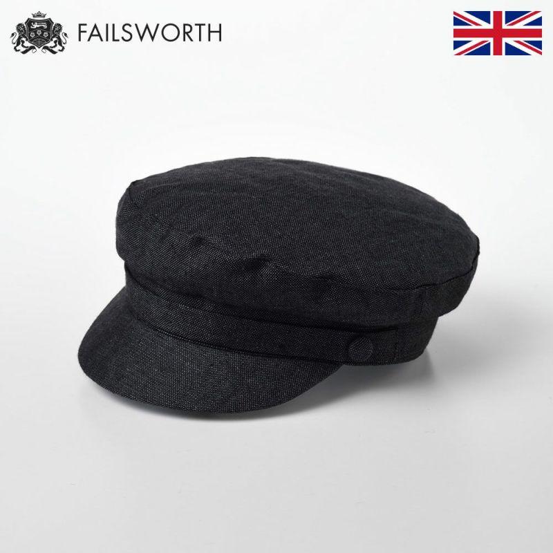 帽子 マリンキャップ FAILSWORTH(フェイルスワース) Irish Linen Mariner(アイリッシュ リネン マリナー) チャコール