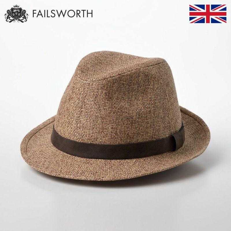 帽子 ストローハット FAILSWORTH(フェイルスワース) Straw Trilby(ストロートリルビー) サンド