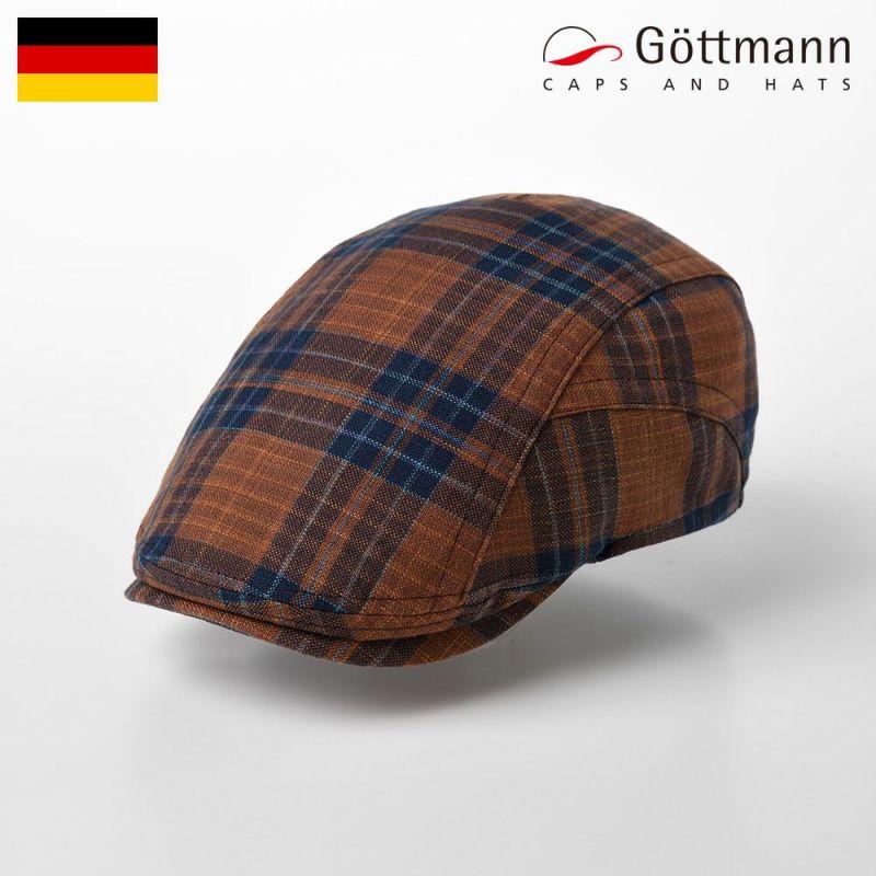 帽子 ハンチング Gottmann(ゴットマン) Richmond Tartan Check(リッチモンド タータンチェック) G2810351 オレンジ