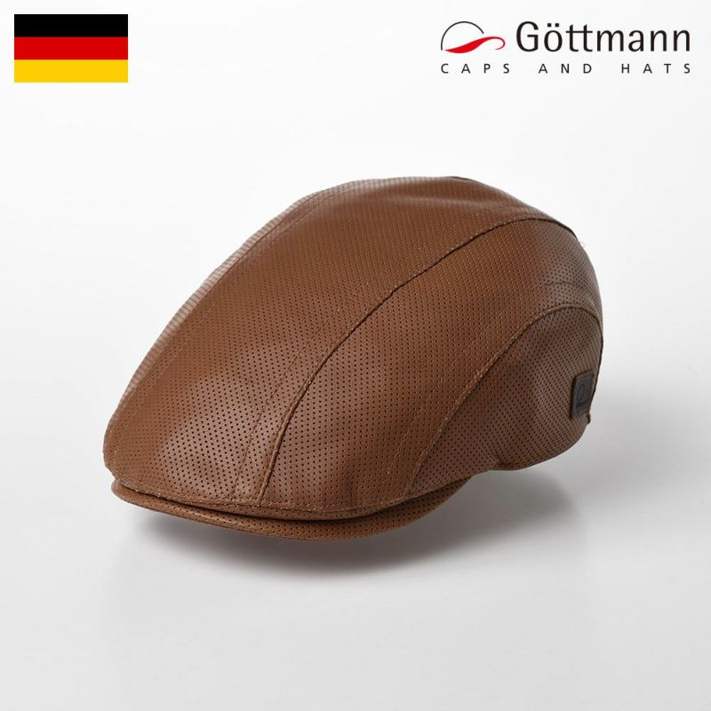 帽子 ハンチング Gottmann(ゴットマン) Baxter Sheep Leather(バクスター シープレザー) G2772123 キャメル