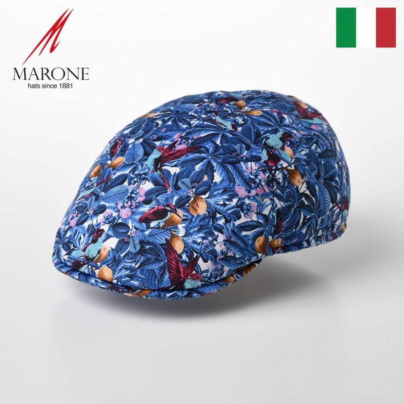 帽子 ハンチング MARONE(マローネ) One Panel Berretto Foglia(ワンパネルベレット フォリア)CT634 ブルー