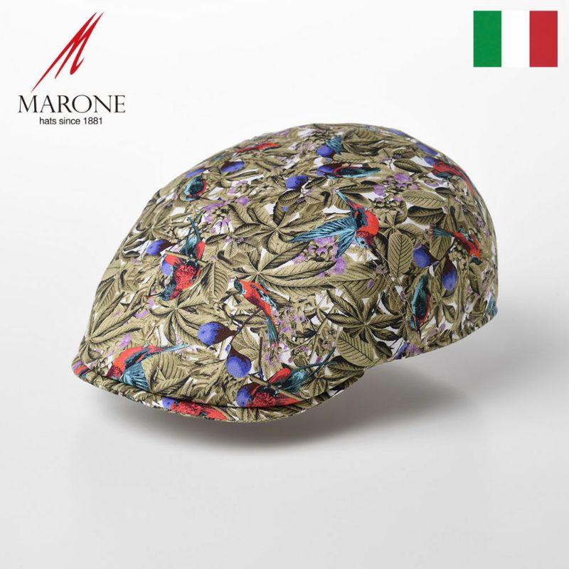 帽子 ハンチング MARONE(マローネ) One Panel Berretto Foglia(ワンパネルベレット フォリア)CT634 カーキ