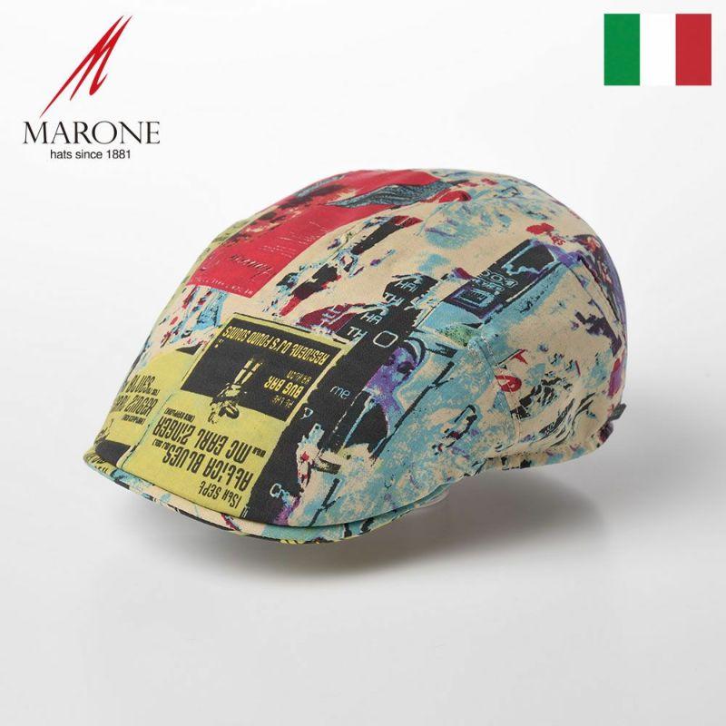 帽子 ハンチング MARONE(マローネ) One Panel Berretto Cotton(ワンパネルベレット コットン)CT636