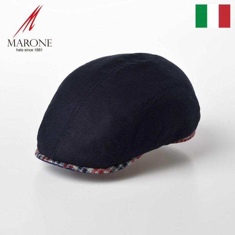 帽子 ハンチング MARONE(マローネ) Tre Colori(トレコローリ)CT646 ネイビー