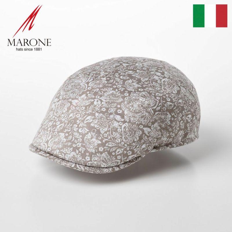 帽子 ハンチング MARONE(マローネ) One Panel Berretto Damasco(ワンパネルベレット ダマスク)CT651 ベージュ